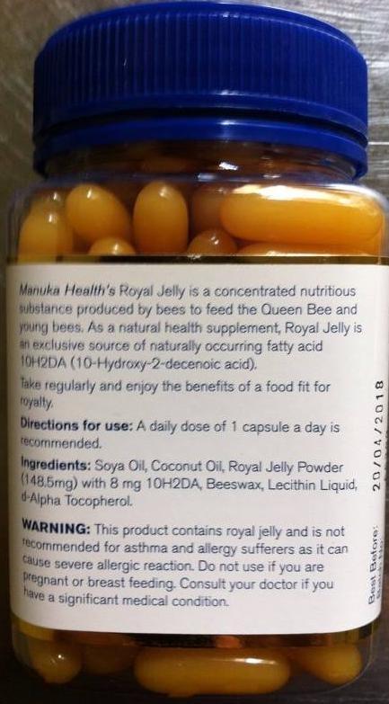 Sữa ong chúa Manuka Health made in New Zealand Ảnh số 38329079