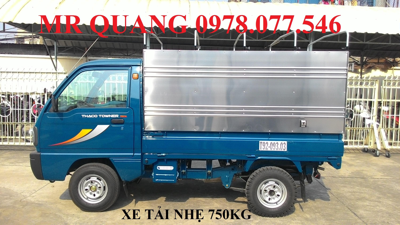 Xe tải thaco Towner800 tải 900kg, thaco Towner990 tải 990kg, xe tải nhẹ máy xăng thaco, xe tải nhẹ trường hải 800kg Ảnh số 39052798
