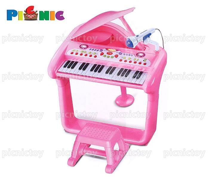 Đàn organ đồ chơi cao cấp Elegant với ghế ngồi và micro Màu hồng Mã SP: 270682 Ảnh số 40132549