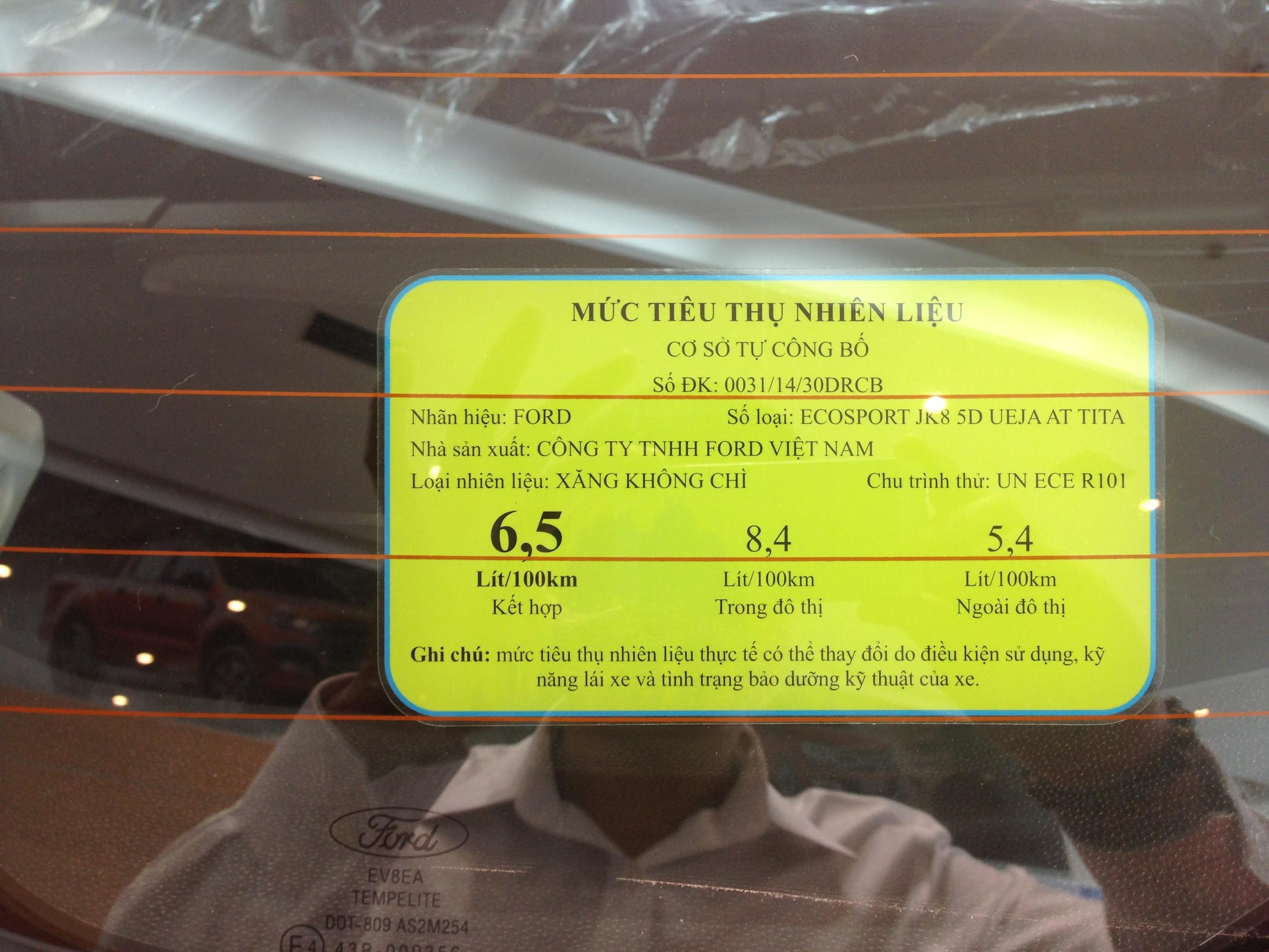 Ford ecosport Titanium 1.5 AT màu cam giao xe nhanh nhất Ảnh số 40388505