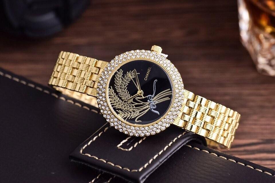 Đồng hồ Chanel lá lúa in nổi ZL1195 Ảnh số 40653211