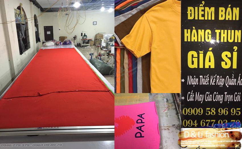 Áo thun bỏ sỉ D Li chuyên cung cấp sản xuất áo thun cotton giá sỉ tại tphcm giá 24k dày mịn đẹp.