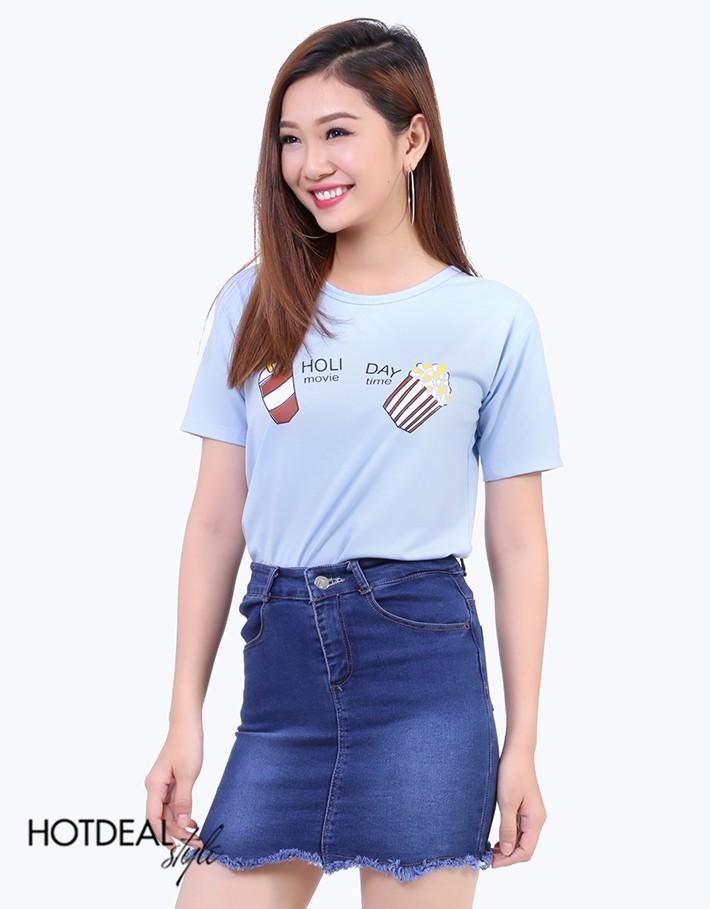 Siêu khuyến mãi hàng nghìn áo thun nữ kiểu 100% Cotton giá chỉ 30k tại TPHCM, Áo phông in họa tiết, áo thun teen bỏ sỉ Ảnh số 40771377