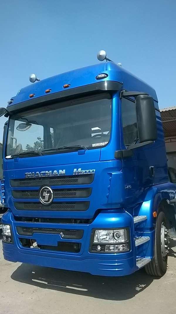 Sản xuất 2015 tải thùng 4 chân SHACMAN đầu kéo SHACMAN mooc nhập giá tốt , Ảnh đại diện