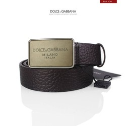 Ảnh số 17: Dolce & Gabbana 30MM Textured Leather Belt With Logo - Giá: 5.900.000