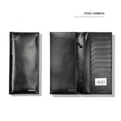 Ảnh số 51: Dolce & Gabbana Black Leather Long Wallet With Zip - Giá: 5.200.000