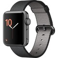 Apple Watch Series 2 38mm Space Gray, Black Woven Nylon Band