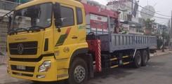 Xe Tải DONGFENG 4 Chân nhập khẩu lắp cẩu 12 tấn tại Cần Thơ, Ảnh số 2