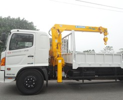 Xe tải HINO có cần cẩu Soosan cẩu 3 tấn cẩu 5 tấn cẩu 7 tấn cẩu 10 tấn, Ảnh số 1