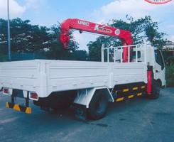 Xe hino zxu 720 gắn cẩu unic 3 tấn urv344: tải 3 tấn thùng dài 4m, Ảnh số 1