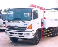 Xe hino 3 chân fl8 gắn cẩu unic 340 tải 14 tấn, thùng 6.8m, Ảnh số 1