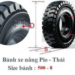 Lốp đặc xe nâng Michio thái lan, vỏ xe nâng, bánh xe nâng động cơ, lốp xe nâng hàng 650 10, 700 12 giá rẻ