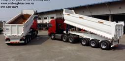 Bán đầu kéo, rơ mooc ben tự đổ 3 trục tải trọng 28,5 30 tấn 2.