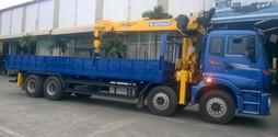 Xe tải Auman 4 chân Gác cẩu Soosan 7 tấn 6 đốt.