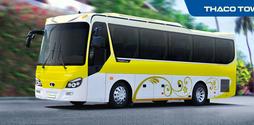 Giá xe Thaco 29 chỗ bầu hơi, Thaco Town TB82S dài 8,2m, 6 bầu hơi ki.