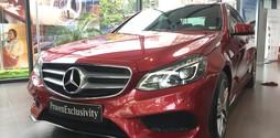 Bán Mercedes E250 AMG 2015 màu Đỏ đã qua sử dụng chạy cực ít.