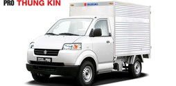Giá bán xe tải Suzuki 650 kG thùng mui kín, thùng mui bạt Model 2016.
