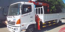 Chuyên bán xe tải gắn cẩu hino 5t2 xzu720, 6t4 fc, 9t4 fg, 15t fl gắn .