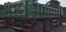Xe ben 4 chân howo 371 hp, 10 lá nhíp, thùng vuông 6,3m, thùng đúc 6,3m .