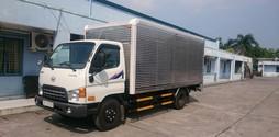 Xe Hyundai nâng hạ thủy lực, HD99 nâng tải có bửng nâng hạ.