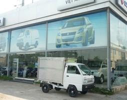 Xe tải Suzuki 5 tạ, 7 tạ thùng kín sóng inox 2 lớp giá tốt.