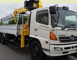 Giá bán xe tải Hino 9T4 Gắn cẩu, Lắp cẩu Soosan SCS746L 8T4, Loại .