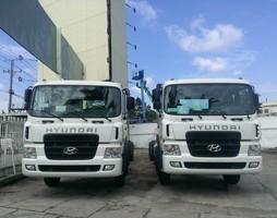 Xe tải 4 chân Hyundai HD320 19t nhập khẩu đóng cẩu soosung 10 tâ.