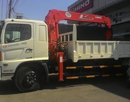 Xe tải cẩu Hino 8 tấn gắn cẩu UNIC 5 tấn giá rẻ nhất bán trả.