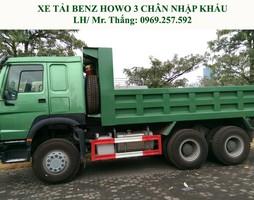 Xe tải ben Howo 3 chân nhập khẩu.