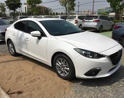 Mazda 3 màu trắng, mazda 3 sedan màu trắng, mazda 3 hatchback màu trắng.
