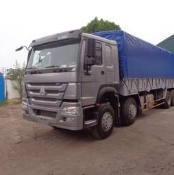 Xe tải thùng Howo 371 HP 4 chân.