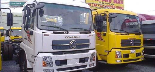 Giá xe tải nhập khẩu 9.6 tấn Dongfeng Hoàng Huy Bán xe tải Dongfeng Hoàng Huy 9.6 tấn thùng mui bạt giá rẻ, Ảnh số 1