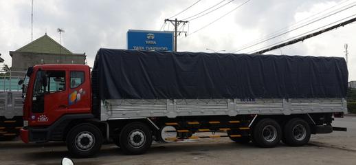 Xe tải 4 chân 19 tấn, tổng tải 30 tấn. Thùng Dài 9.7m, Daewoo Hàn, Ảnh số 1