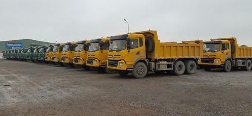 Bán Xe ben 3 chân tải tự đổ 13.5 tấn DONGFENG nhập khẩu, kích thước thùng hàng 5000 x 2300 x 980 mm , trả góp 80%, Ảnh số 1
