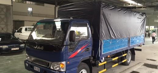 Cần bán xe tải jac 2,4 tấn đời 2o17 Bán xe tải jac 2,4 tấn thùng 3m7 vô TP giá chỉ có 40tr, Ảnh số 1