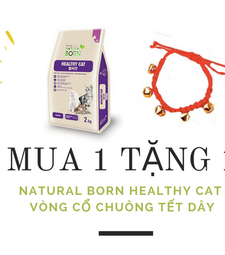 Mua 1 tặng 1: Natural Born Healthy Cat 2kg.