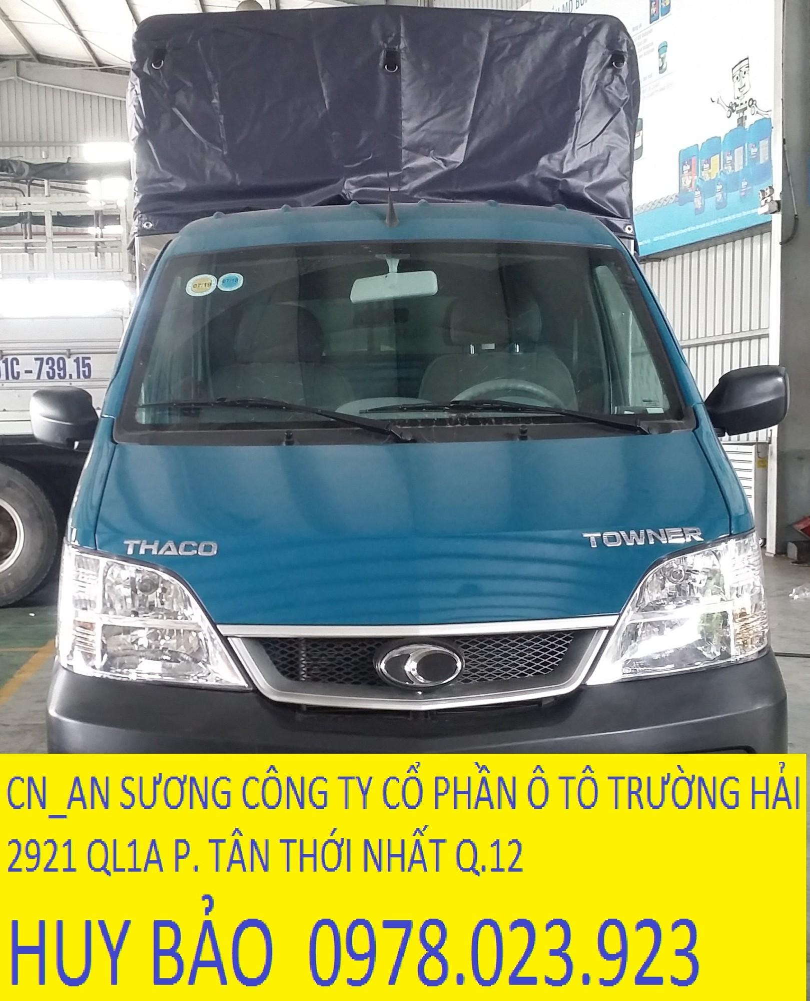 Xe tải thaco towner 750 kg phun xăng điện tử thùng dài 2.6m Ảnh số 41334481