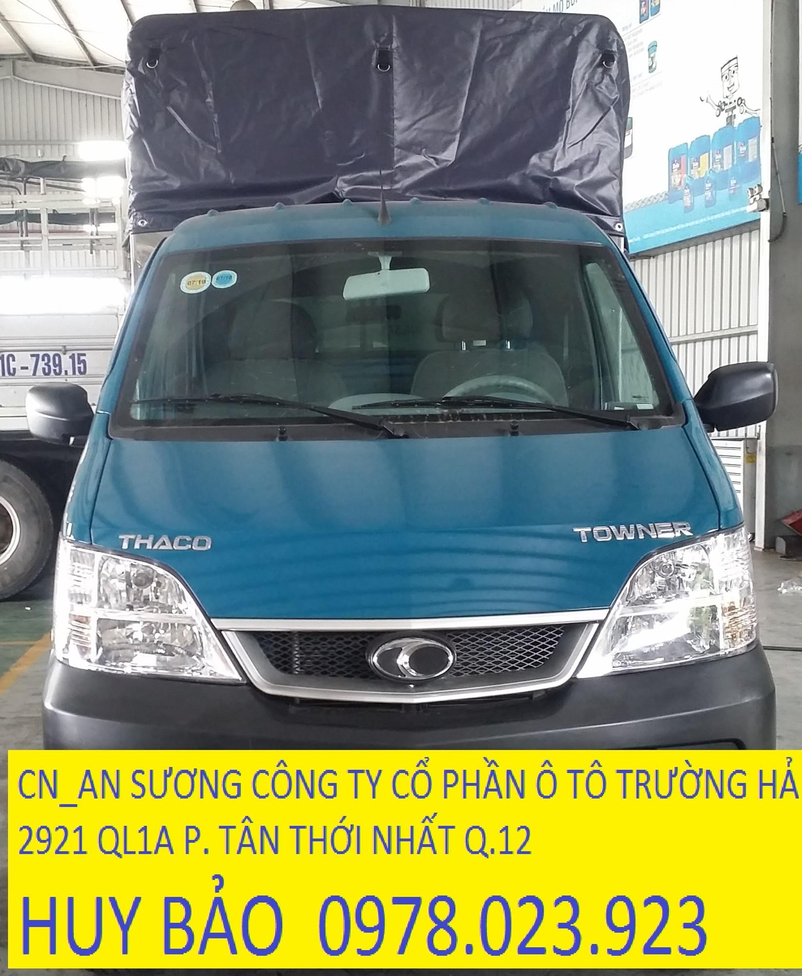 Xe tải thaco towner 750 kg phun xăng điện tử thùng dài 2.6m Ảnh số 41334482