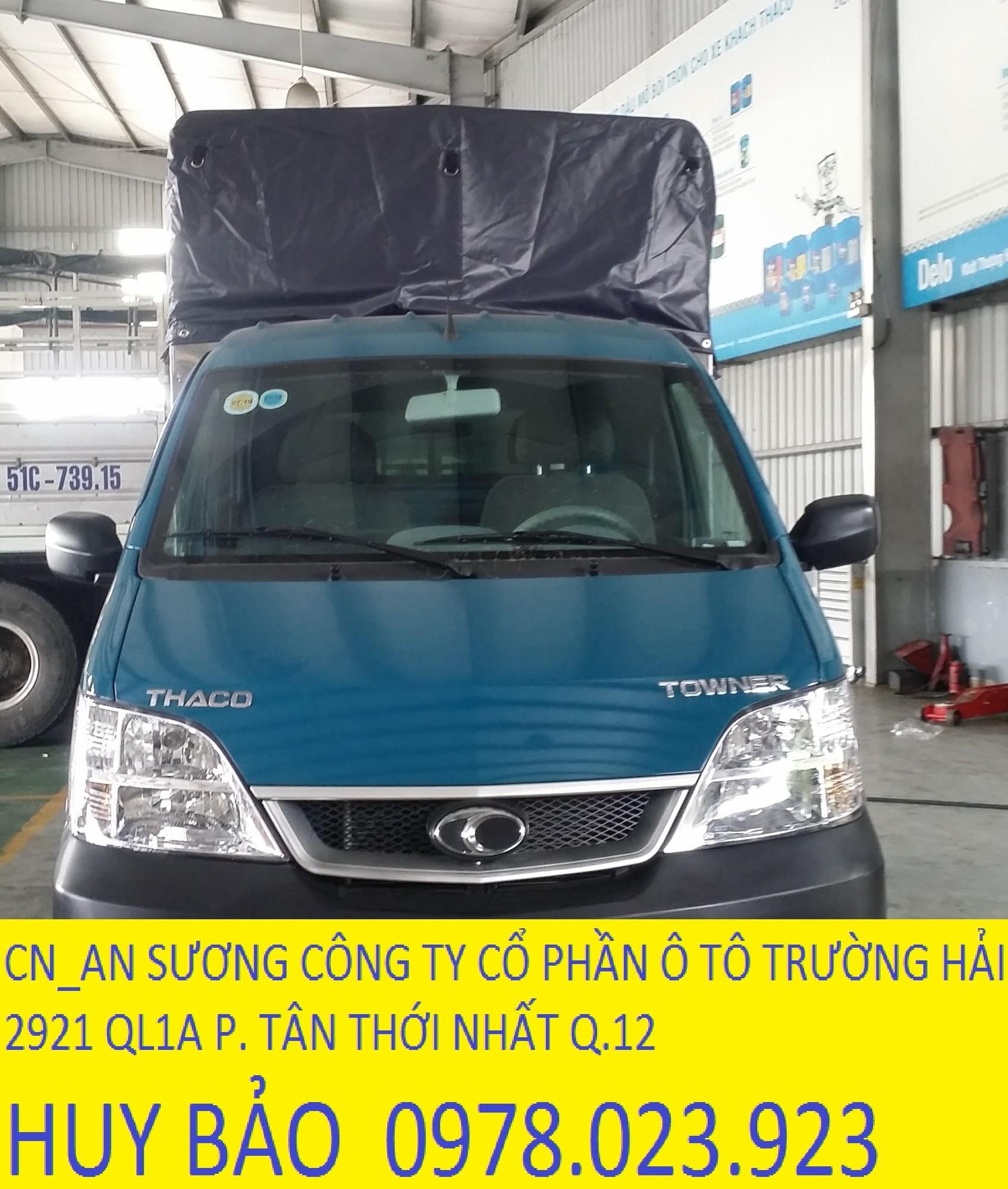 Xe tải thaco towner 750 kg phun xăng điện tử thùng dài 2.6m Ảnh số 41334483