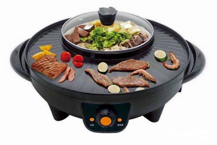 Bếp lẩu nướng điện 2 trong 1 BBQ,nồi lẩu nướng điện đa năng hình tròn tiện dụng cho mọi gia đình Ảnh số 41432582