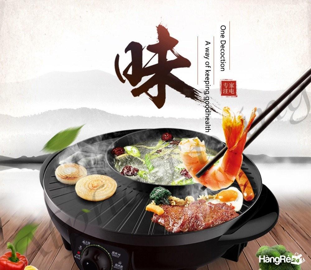 Bếp lẩu nướng điện 2 trong 1 BBQ,nồi lẩu nướng điện đa năng hình tròn tiện dụng cho mọi gia đình Ảnh số 41432584