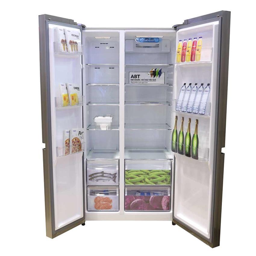 Tủ lạnh Aqua 516 lít AQR IG525AM, AQR IG585AS 4 cửa Inverter giá rẻ Ảnh số 41526594