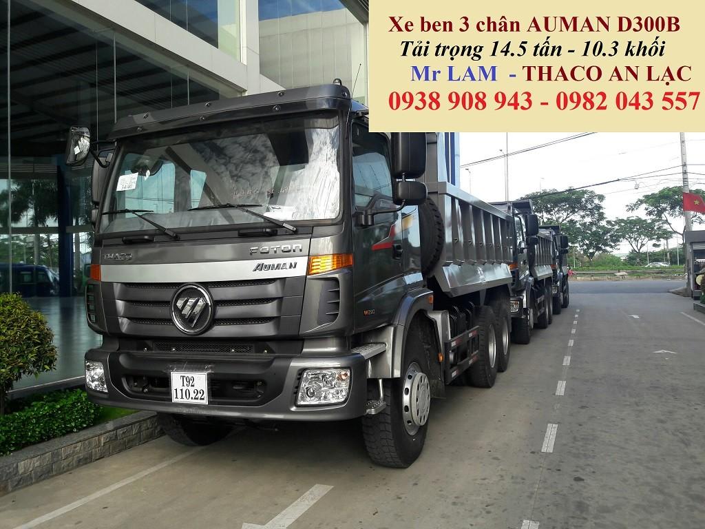 Xe ben 3 chân Thaco Auman D240B 14.5 tấn/ xe ben 10 khối Auman D240B cầu dầu 2 cấp Ảnh số 41564528