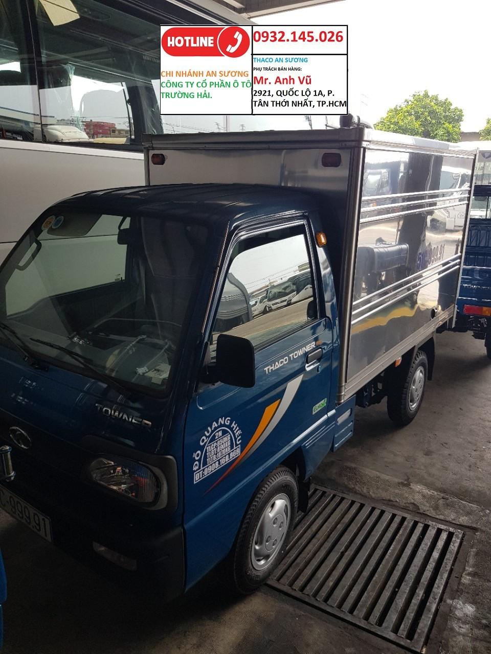 Trường Hải An Sương. Xe tải THACO TOWNER 800 tải 900 Kg TRẢ GÓP 80%. Xe GIAO NGAY. Xe tải THACO TOWNER 800 tải 900 Kg. Ảnh số 41906737
