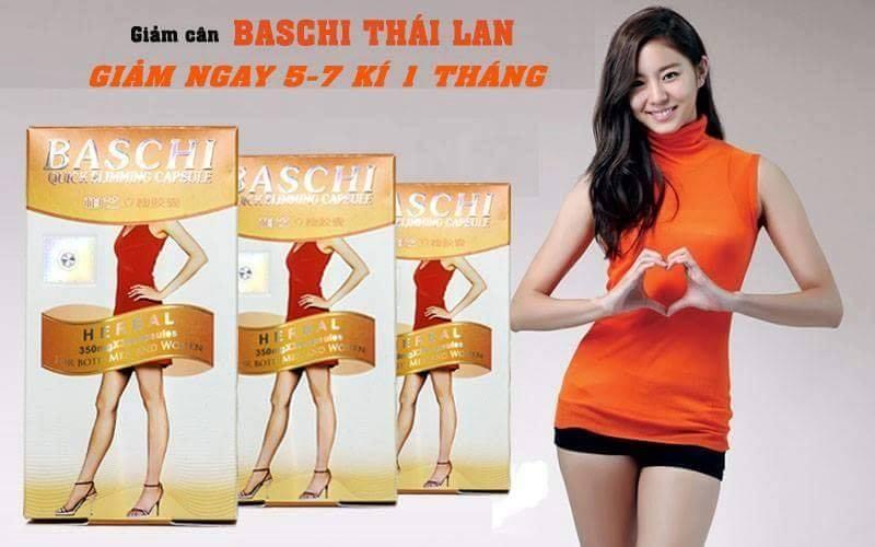 Thuốc giảm cân Baschi, thuốc giảm không gây mệt giảm cân nhanh
