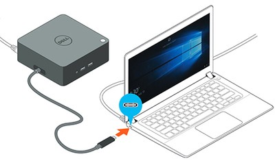 Dell TB16 Thunderbolt Dock, Dell Business Thunderbolt Dock TB16 with 240W Adapter.. New Box