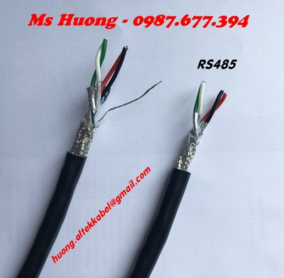 Twisted pair cable cáp rs485 2pr 22awg, rs485 2 pair 24awg, 1pr awg18, 3p 16awg