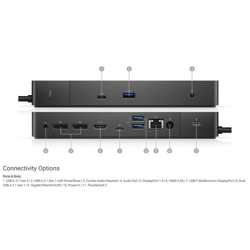 Ảnh số 2: Dell Docking Station WD19 With Adaptor 180W USB C