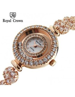 Ảnh số 31: Royal Crown Japanese Quartz Women and Girls Jewelry Fashion Watches Silver Gold Wrist Straps RG5308-B - Giá: 2.413.000