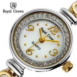 Ảnh số 37: Royal crown watches bracelet watch fashion gold steel ladies watch 6401 - Giá: 1.675.000